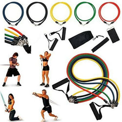 Resistance Bands Set 17 In 1 | Home Gym | Pull Rope Fitness Exercises  | Training, Yoga, Gym, Fitness Equipment - Nova Sloth