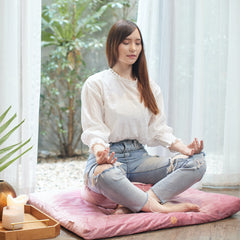 Enjoy comfortable meditation with our full line of comfy meditation cushions and mats.