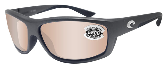 Costa Del Mar Saltbreak Gray Frame Copper Silver Mirror 580 Glass Polarized Lens