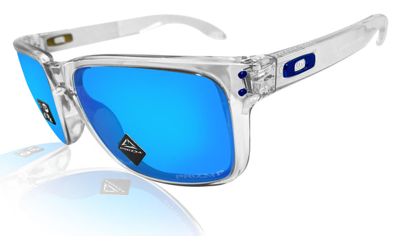Oakley Holbrook XL Clear Frame Prizm Sapphire Polarized Lens Sunglasses 0OO9417