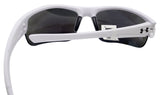 Under Armour propel satin white crystal gray blue mirror lens 8600106-111761 new