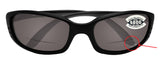 Costa Del Mar Brine Readers C-Mate Black +1.50 Gray 580P Plastic Polarized Lens