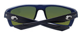 Costa Del Mar Motu Black Teak Frame Blue Mirror 580G Glass Polarized Lens