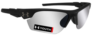 Under Armour 8600096-010101 youth windup satin black frame gray lens new