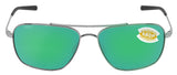 Costa Del Mar Canaveral Palladium Frame Green Mirror 580P Plastic Polarized Lens