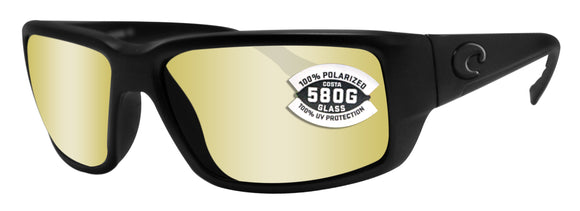 Costa Del Mar Fantail Blackout Sunrise Silver Mirror 580G Glass Polarized Lens