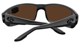 Costa Del Mar Permit Matte Gray Frame Green Mirror 580P Plastic Polarized Lens