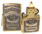 Zippo 254BJD.428 Jack Daniels Label Emblem High Polish Brass Spirits Lighter
