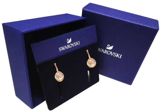 Swarovski bella v pierced earrings pink rose-gold tone plated 5299318