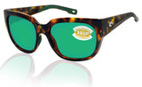 Costa Del Mar Waterwoman Palm Tortoise Green Mirror 580 Plastic Polarized Lens