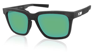 Costa Del Mar Pescador Net Gray Frame Green Mirror 580G Glass Polarized Lens New