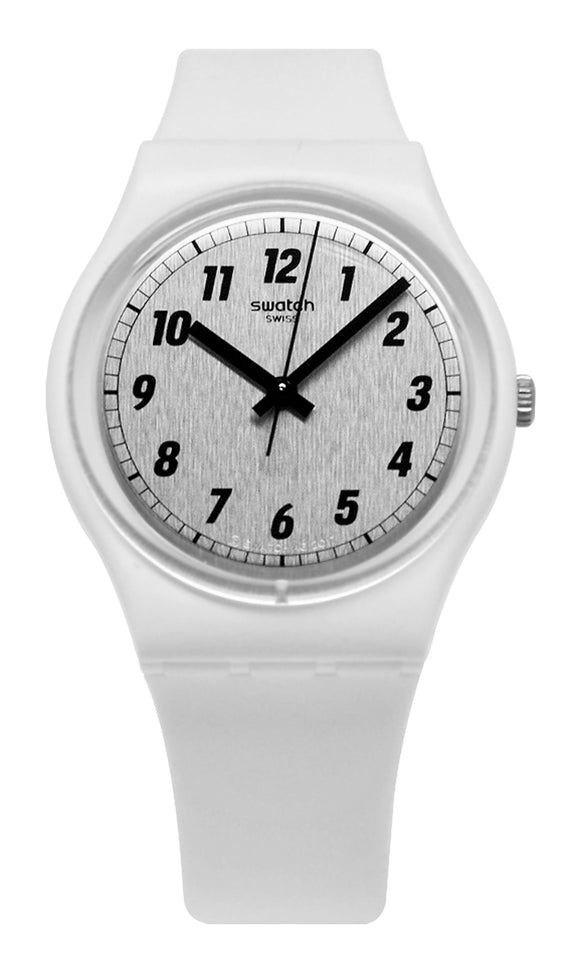 Swatch GW194 Something White Grey Analog Dial Watch New