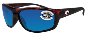 Costa Del Mar Saltbreak Tortoise Frame Blue Mirror 580G Glass Polarized Lens