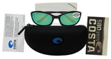 Costa Del Mar Harpoon Shiny Black Frame Green Mirror 580G Glass Polarized Lens
