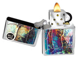 Zippo Lighter 29897 Rust Patina Shattered Glass Street Chrome Windproof New