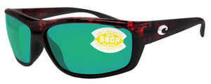 Costa Del Mar Saltbreak Tortoise Frame Green Mirror 580P Plastic Polarized Lens