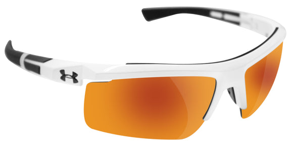 Under Armour 8600082-100941 core 2.0 white charcoal gray frame orange lens