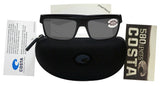 Costa Del Mar Motu Blackout Frame Gray 580G Glass Polarized Lens
