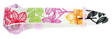 Swatch GP702 Summer Leaves Pink Dial White Multi Floral Silicone Band Watch New