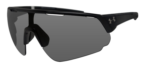 Under Armour  changeup satin black frame gray mirror lens 8600107-010100 new