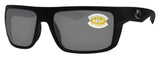 Costa Del Mar Motu Blackout Frame Gray 580P Plastic Polarized Lens