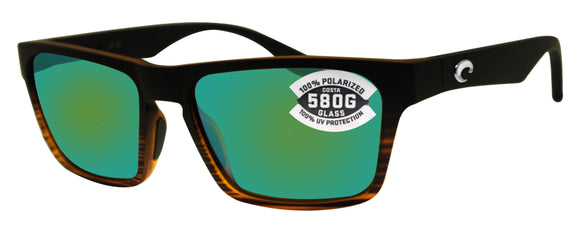 Costa Del Mar Hinano Coconut Fade Frame Green Mirror 580G Glass Polarized Lens