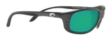 Costa Del Mar Brine Gunmetal Frame Green Mirror 580P Plastic Polarized Lens