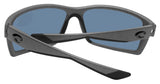Costa Del Mar Reefton Matte Gray Frame Blue Mirror 580P Plastic Polarized Lens