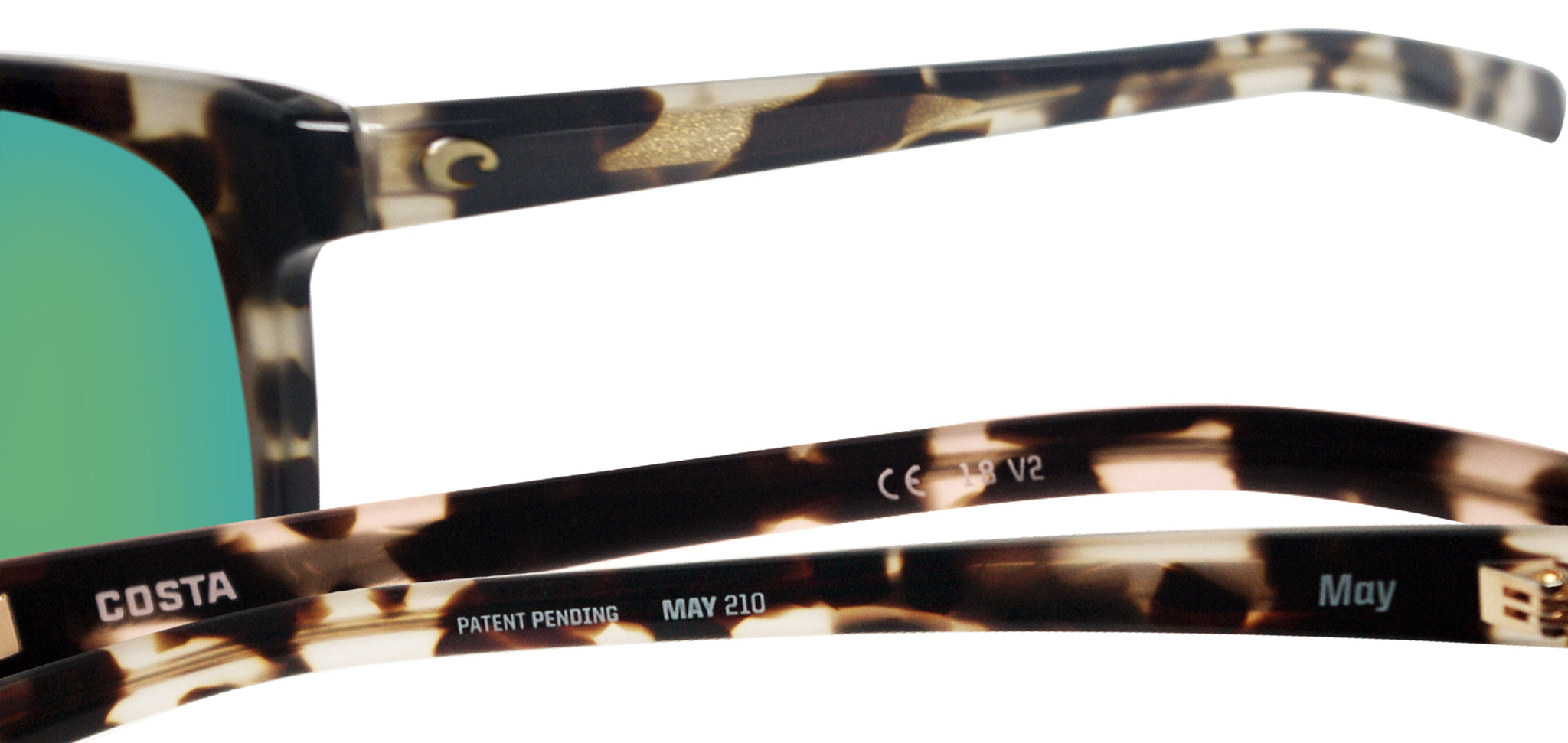 5494d632c9 ... Costa Del Mar May Shiny Tiger Cowrie Green Mirror 580G Glass Polarized  Lens ...