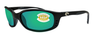 Costa Del Mar Brine Black Frame Green Mirror 580P Plastic Polarized Lens