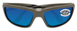 Costa Del Mar Fantail Moss Frame Blue Mirror 580 Glass Polarized Lens Sunglasses