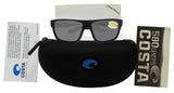 Costa Del Mar Bloke Black Gray Frame Gray 580P Plastic Polarized Lens