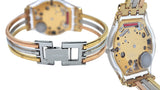 Swatch SFK240B Tri Gold Small Multicolor Dial Steel Bracelet Women Watch NEW, $120