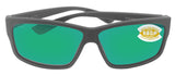 Costa Del Mar Cut Matte Gray Frame Green Mirror 580P Plastic Polarized Lens