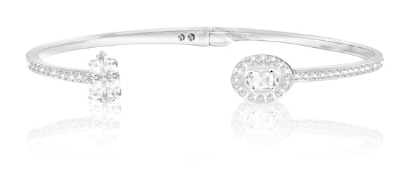 Swarovski attract crystal bangle white rhodium 5416190