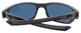 Costa Del Mar Whitetip Matte Gray Frame Blue Mirror 580P Plastic Polarized Lens