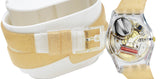 Swatch LK351C Goldendescent Transparent Yellow Gold Silicone Band Women Watch