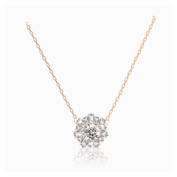 Swarovski sunshine pendant white rose-gold tone plated  5451376