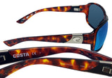 Costa Del Mar Inlet Tortoise Frame Blue Mirror 580G Glass Polarized Lens