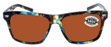 Costa Del Mar Aransas Tortoise Copper Silver Mirror 580G Glass Polarized Lens