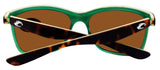 Costa Del Mar Anaa Retro Tort Cream Frame Green Mirror 580G Glass Polarized Lens