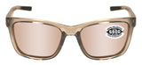 Costa Del Mar Panga Taupe Crystal Copper Silver Mirror 580 Glass Polarized Lens