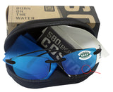 Costa Del Mar Ballast Readers C-Mate Black +1.50 Blue Mirror 580P Plastic Lens
