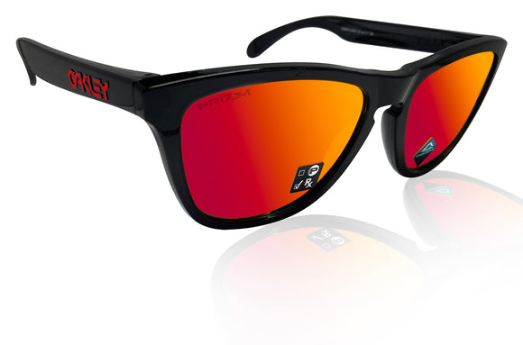 Oakley Frogskins black ink prizm Ruby lens OO9013-C9 new