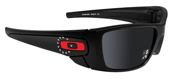 Oakley SI FUEL CELL black FLAG collection black iridium HDO lens OO9096-I660