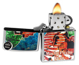 Zippo 29496 Machu Picchu Peru Fusion High Polish Chrome Finish Windproof Lighter