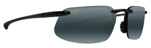 Maui Jim Kanaha 409-02 gloss black frame grey lens polarized sunglasses new