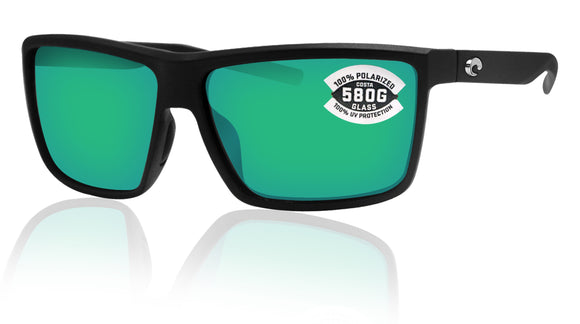 Costa Del Mar Rinconcito Matte Black Green Mirror 580 Glass Polarized Lens