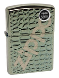 Zippo 29525 Alligator Skin Carved Armor Chameleon Finish Windproof Lighter