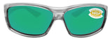 Costa Del Mar Saltbreak Silver Frame Green Mirror 580P Plastic Polarized Lens
